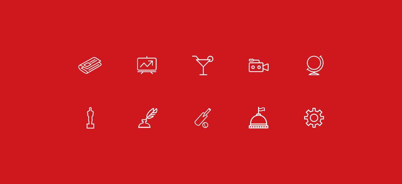Indian Express news app design icons