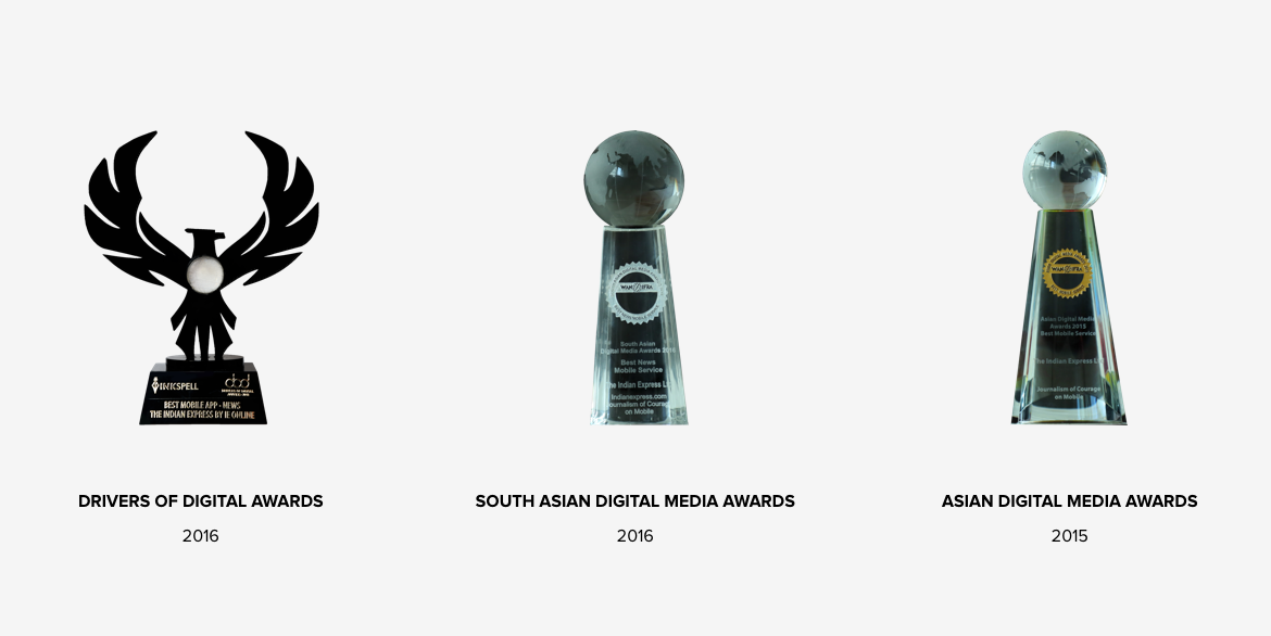 Awards for The Indian Express news app design