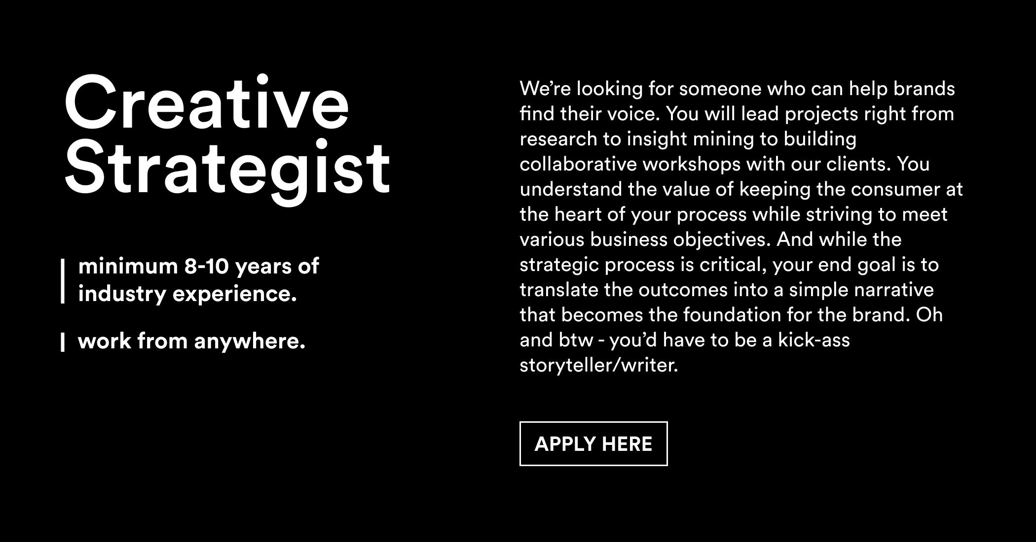 Linkedin – Creative Strategist